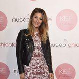 Nagore en la presentación de la colección de cremas de Mila Ximénez