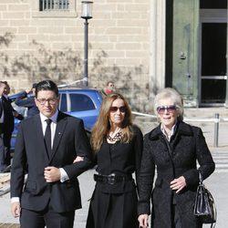Boris de Bulgaria y Miriam Ungría en el funeral del Duque de Calabria