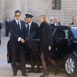 La Infanta Cristina en el funeral del Duque de Calabria