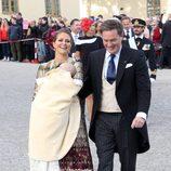 La princesa Magdalena de Suecia y su marido Christopher O'neill en el bautizo de Nicolás de Suecia
