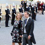 Los padrinos Katarina von Horn y Marco Wajselfiszen el bautizo de Nicolás de Suecia