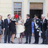 Familiares y amigos en el bautizo de Nicolás de Suecia