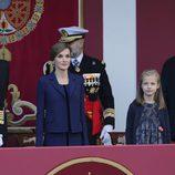 Los Reyes Felipe y Letizia, la Princesa Leonor y la Infanta Sofía en el Día de la Hispanidad 2015