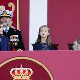 La Reina Letizia, la Princesa Leonor y la Infanta Sofía en el Día de la Hispanidad 2015