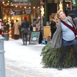 Renée Zellweger en el rodaje de 'Bridget Jones's baby'
