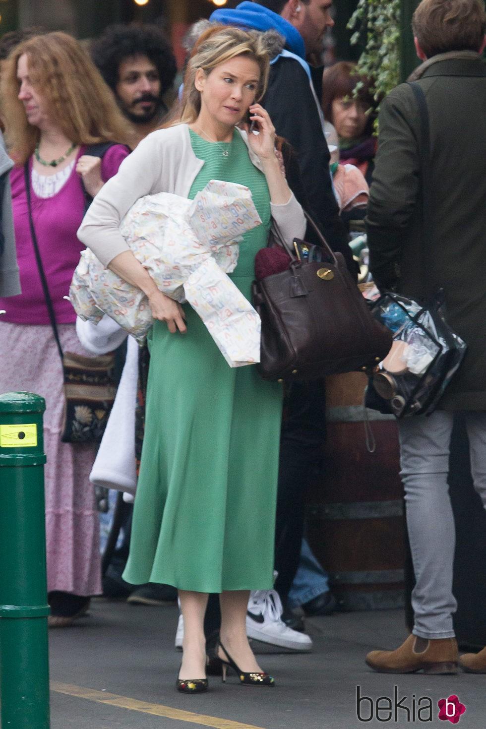 Renée Zellweger en el set de rodaje de 'Bridget Jones's baby'