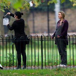 Renée Zellweger en el rodaje de la nueva película de 'Bridget Jones'