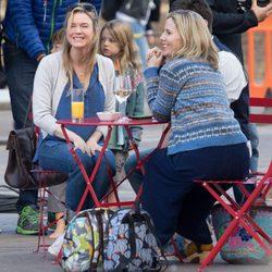 Renée Zellweger rodando la nueva película de  'Bridget Jones'