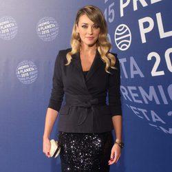 Anna Simón en la entrega del Premio Planeta 2015