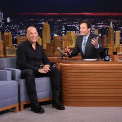 Vin Diesel durante su entrevista con Jimmy Fallon en 'The Tonight Show'