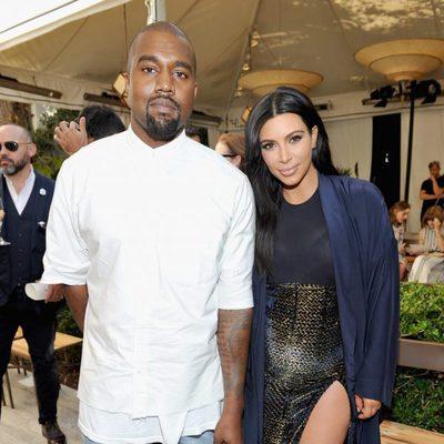 Kim Kardashian y Kanye West en un evento de la publicación Vogue