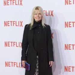 Lluvia rojo en la fiesta de la llegada a España de Netflix