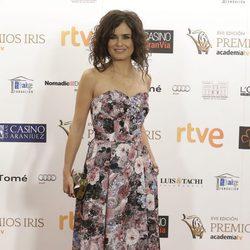 Elena Sánchez en los Premios Iris de la Academia de Televisión 2015