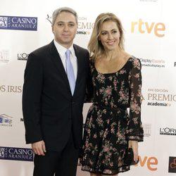 Vicente Vallés y Ángeles Blanco en los Premios Iris de la Academia de Televisión 2015