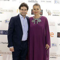 Samantha Vallejo-Nágera y Pepe Rodríguez en los Premios Iris de la Academia de Televisión 2015