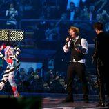 Ed Sheeran recogiendo su premio en los MTV EMA 2015
