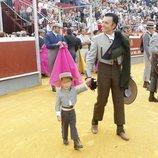 José Ortega Cano con su hijo José María en su vuelta a los ruedos