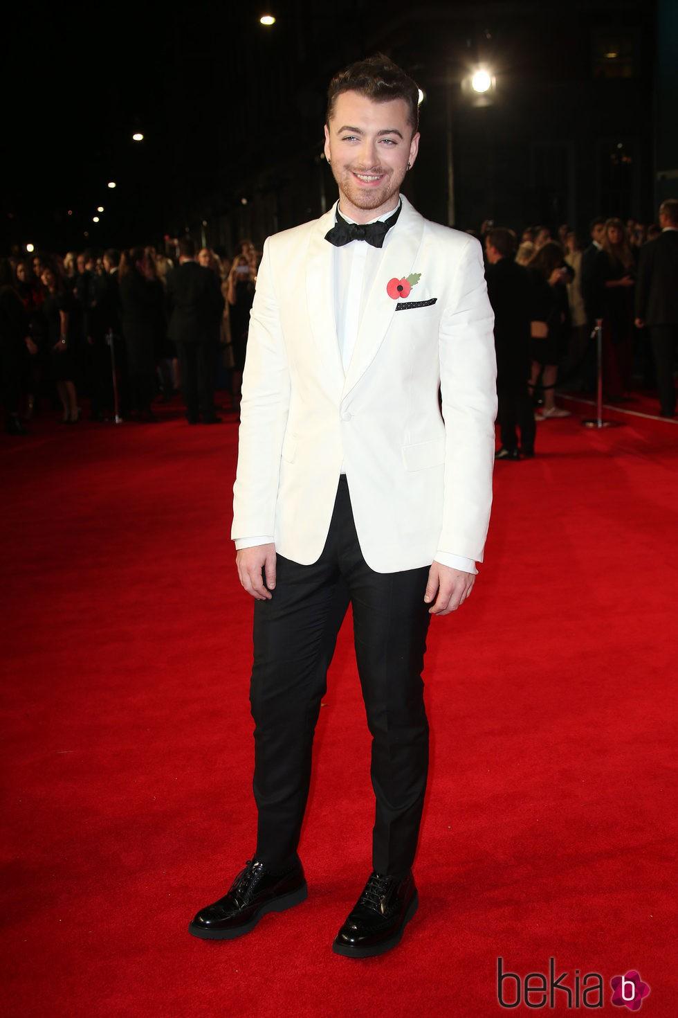 Sam Smith en el estreno de 'Spectre' en Londres