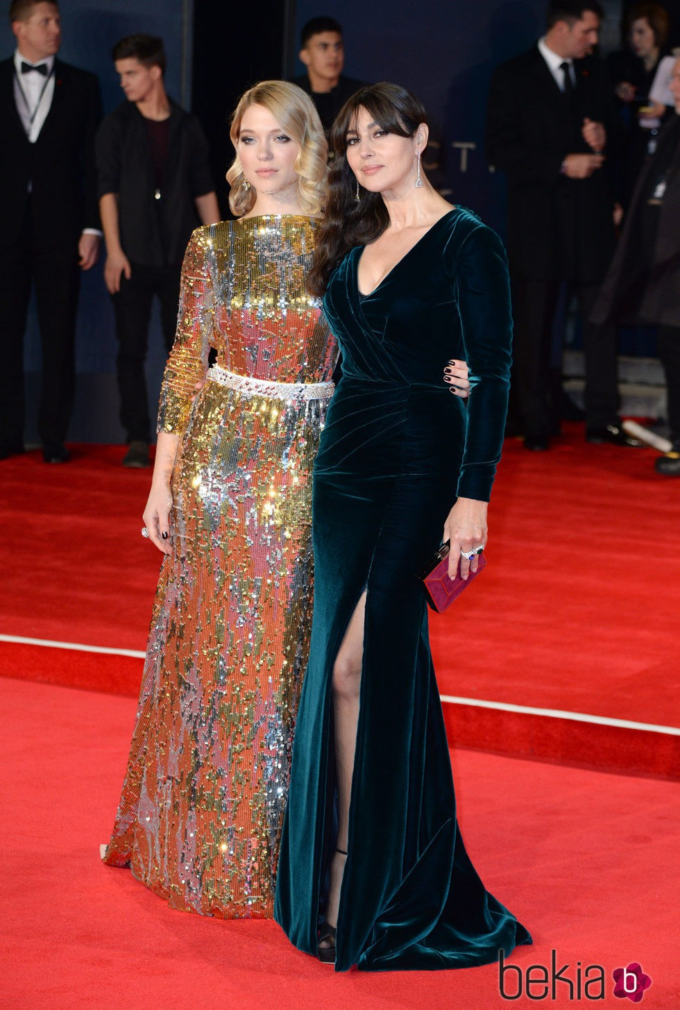 Léa Seydoux y Monica Bellucci en el estreno de 'Spectre' en Londres
