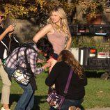 Chloe Moretz en el rodaje de 'Malditos Vecinos 2'