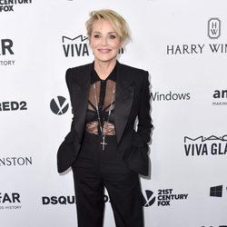 Sharon Stone en la Gala amfAR 2015 de Los Angeles