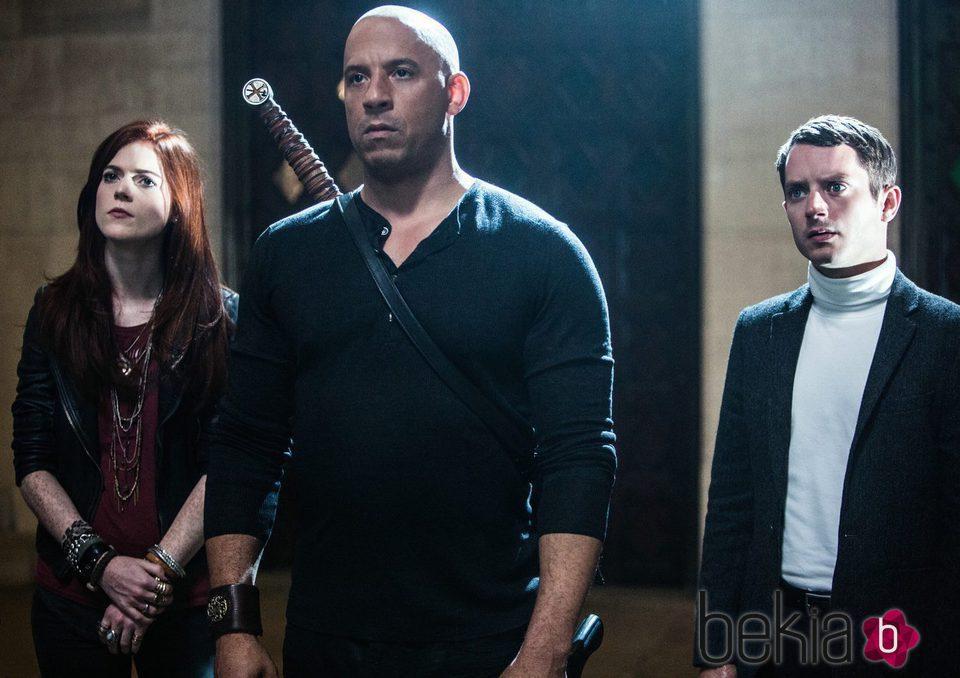 Vin Diesel, Rose Leslie y Elijah Wood en 'El último cazador de brujas'