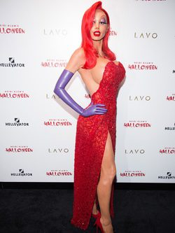 Heidi Klum disfrazada de Jessica Rabbit en su fiesta de Halloween 2015
