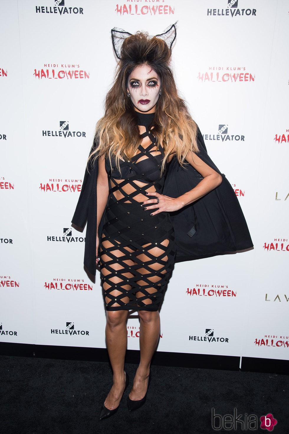 Nicole Scherzinger en la fiesta de Halloween 2015 de Heidi Klum