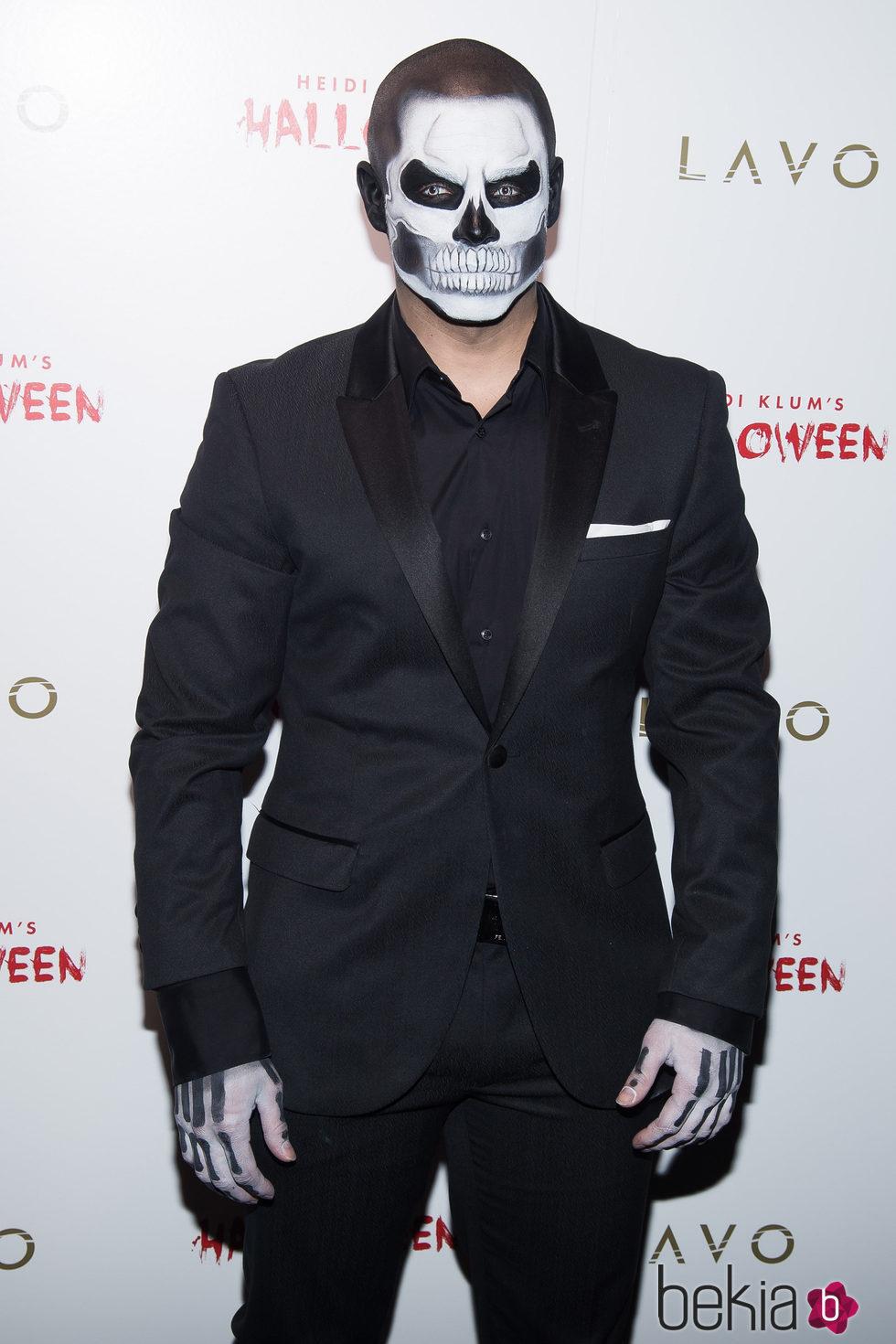 Casper Smart en la fiesta de Halloween 2015 de Heidi Klum