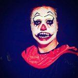 David Bustamante disfrazado de payaso diabólico para celebrar Halloween 2015