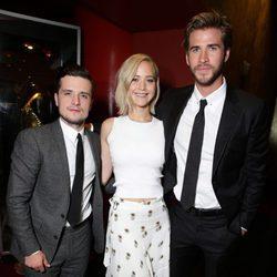 Jennifer Lawrence, Liam Hemsworth y Josh Hutcherson se despiden de 'Los Juegos del Hambre'