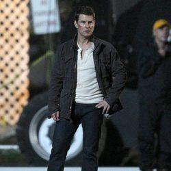 Tom Cruise en el rodaje de su nueva película