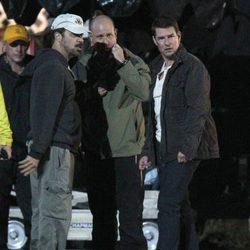 Tom Cruise en un descanso durante el rodaje de su nueva película