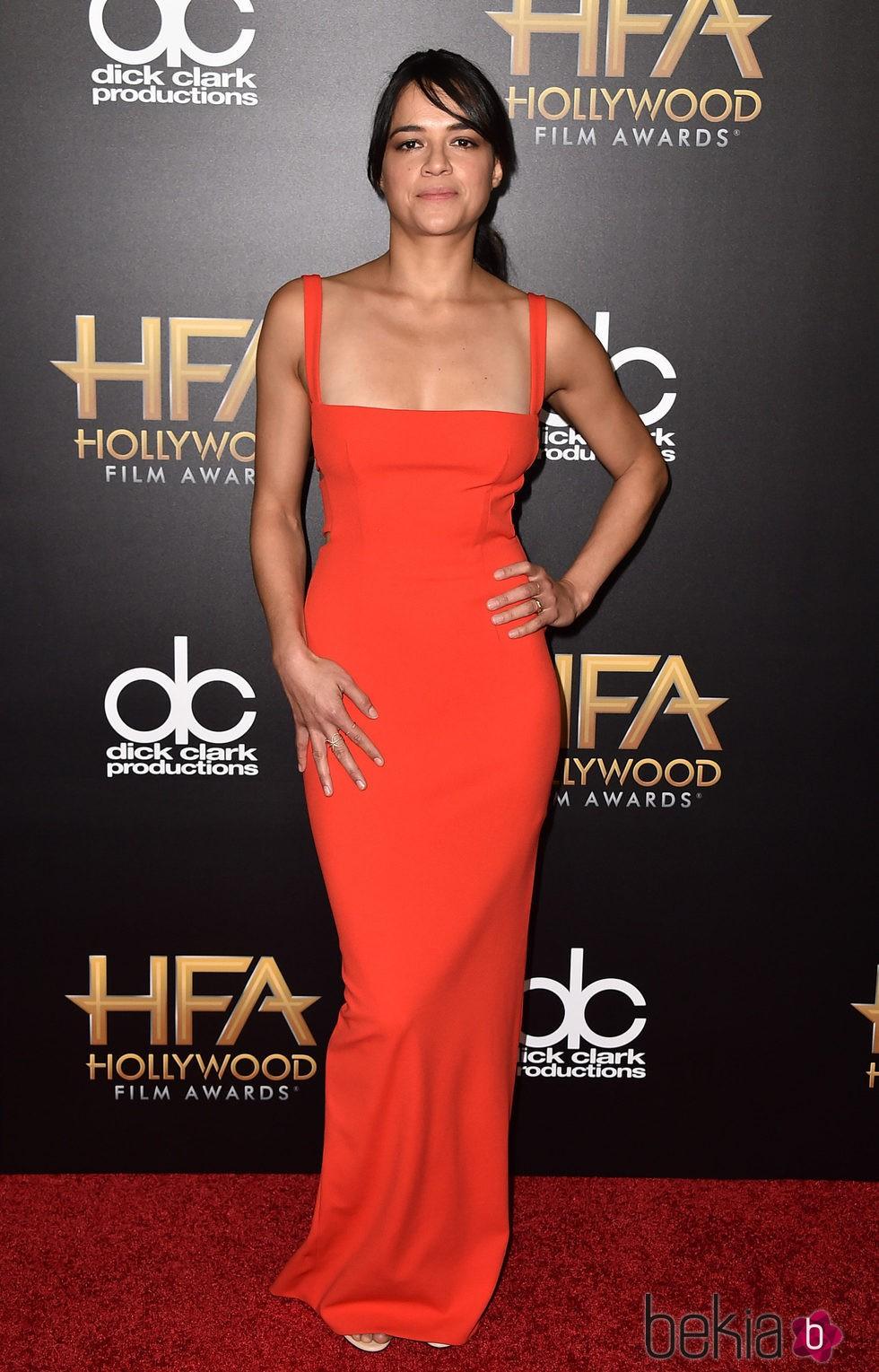 Michelle Rodriguez en los Hollywood Film Awards 2015