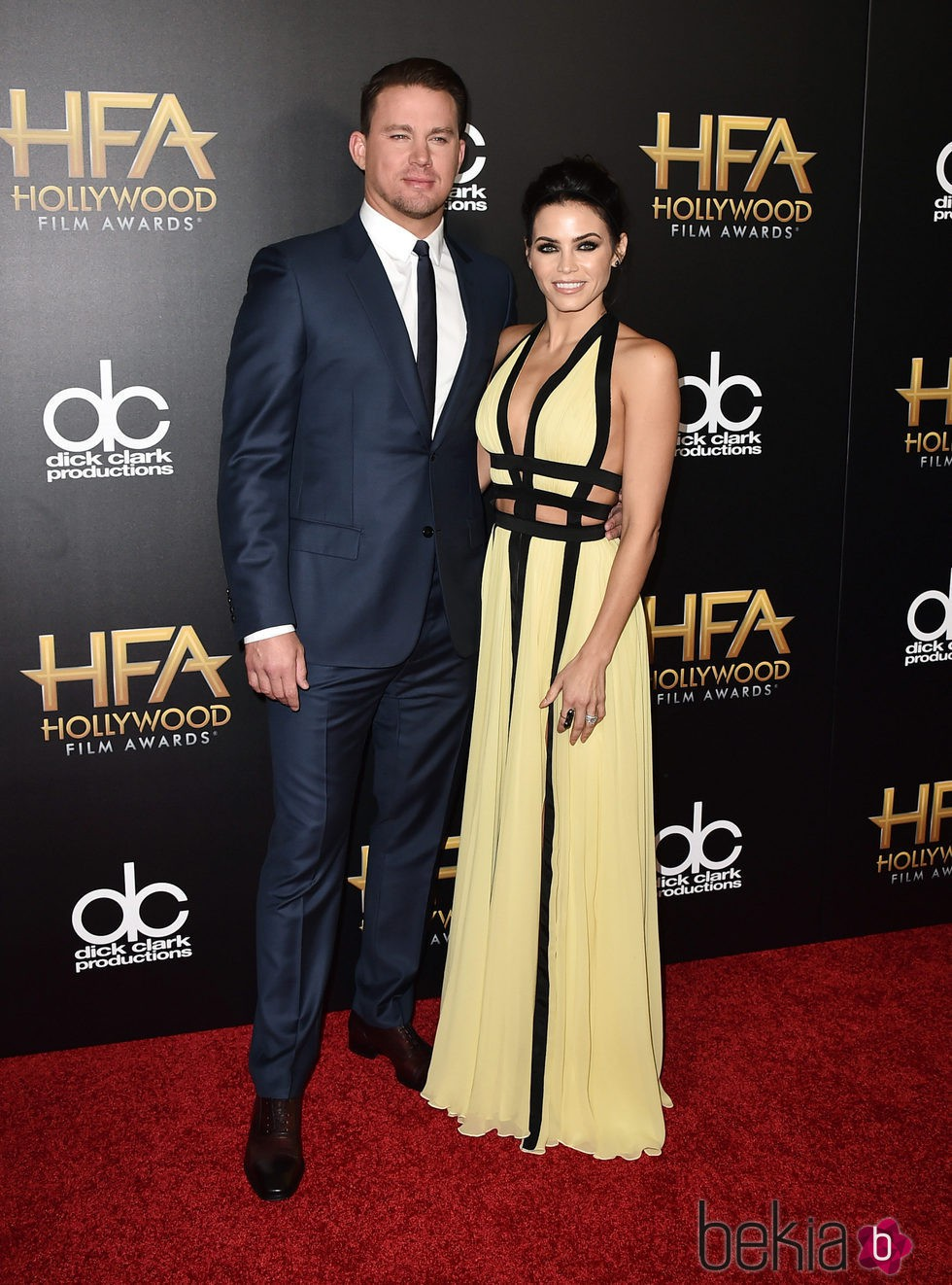 Channing Tatum y Jenna Dewan en los Hollywood Film Awards 2015