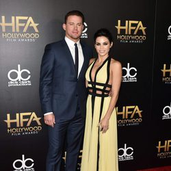 Channing Tatum y Jenna Dewan en los Hollywood Film Awards 2015