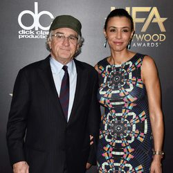Robert De Niro y Drena De Niro en los Hollywood Film Awards 2015