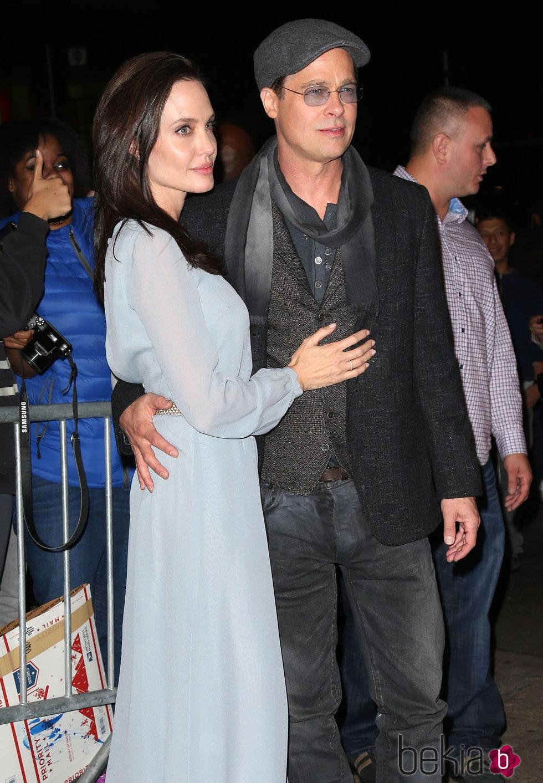 Angelina Jolie y Brad Pitt en el estreno de 'By The Sea' en Nueva York.