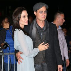 Angelina Jolie y Brad Pitt en el estreno de 'By The Sea' en Nueva York.