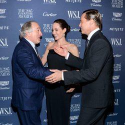 Angelina Jolie, Brad Pitt y Robert De Niro en los WSJ Innovator Awards 2015