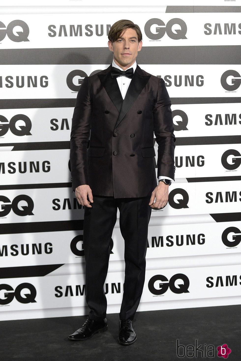 Adrián Lastra en los Premios GQ Hombres del Año 2015