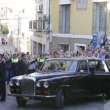 Coche con Cayetano Rivera llegando a su boda con Eva González