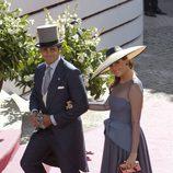 Fran Rivera y Lourdes Montes en la boda de Eva González y Cayetano Rivera