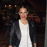 Carola Baleztena en la celebración de cumpleaños de Arancha de Benito