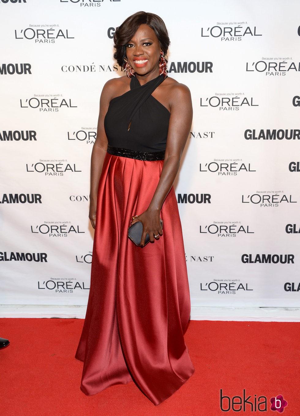 Viola Davis en los premios Glamour Mujer del Año 2015