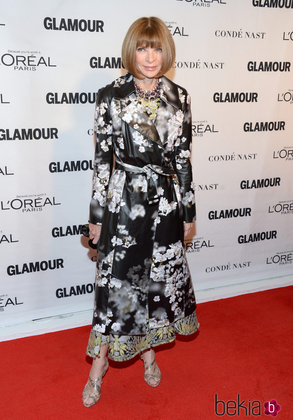 Anna Wintour en los premios Glamour Mujer del Año 2015