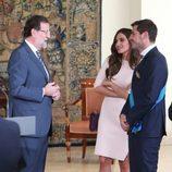 Iker Casillas y Sara Carbonero charlan con Mariano Rajoy en La Moncloa