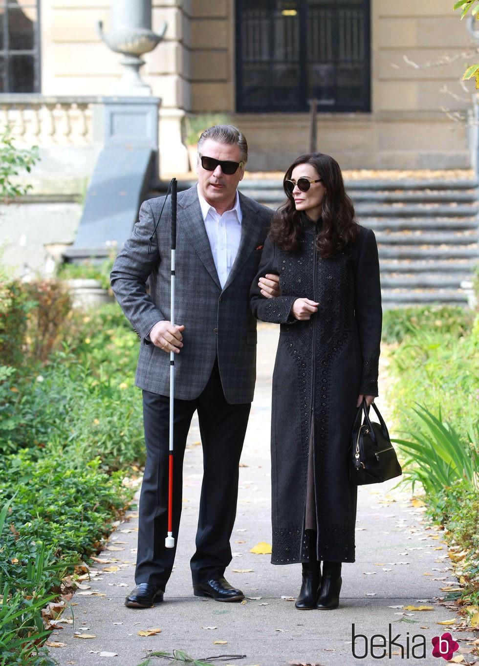 Alec Baldwin y Demi Moore rodando su última película