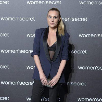 Berta Collado a su llegada al desfile de la colección 'Limited Edition' de Women'secret