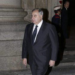 Fernando Martínez de Irujo en el funeral del Infante Carlos